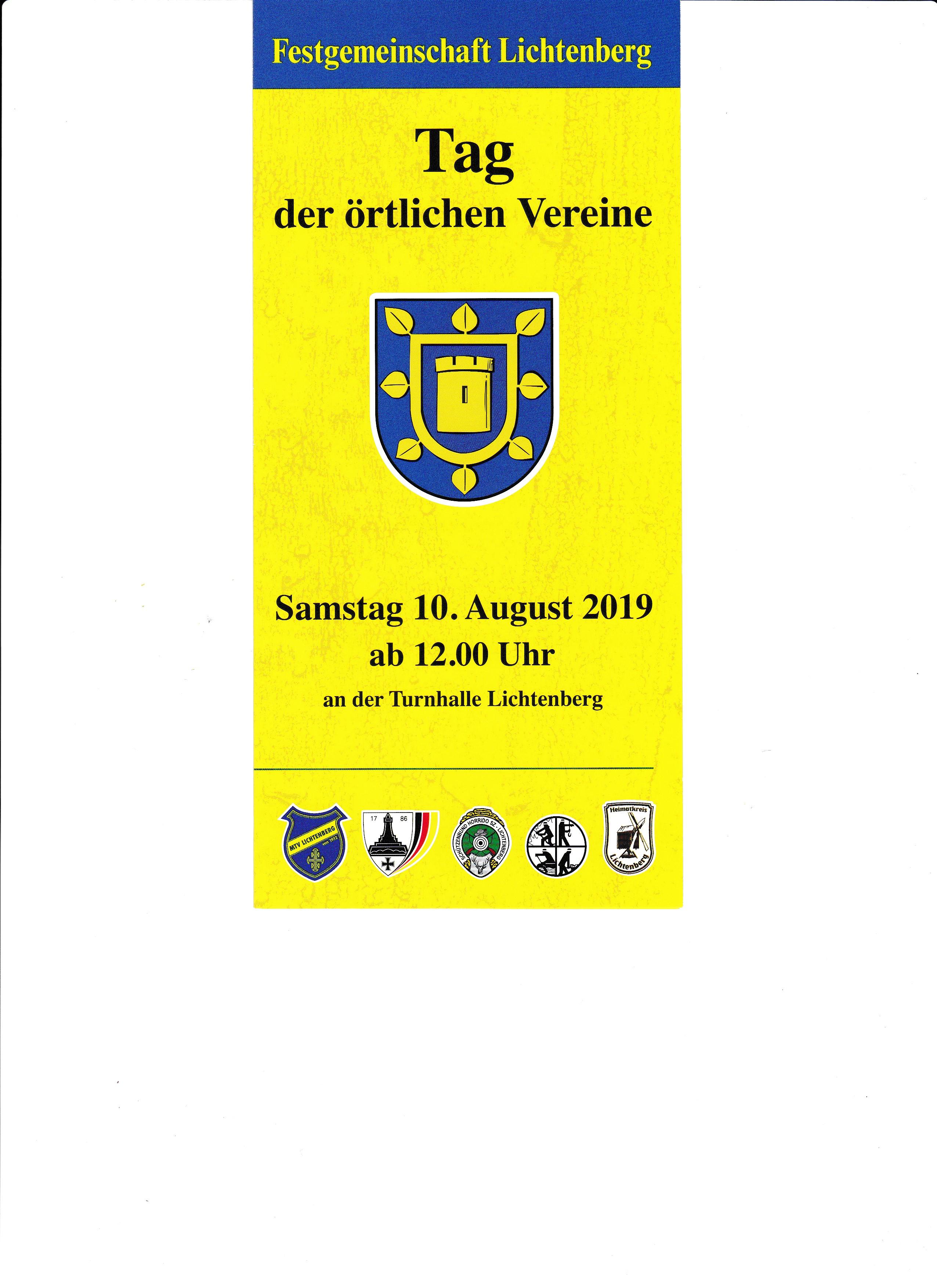 Tag der örtlichen Vereine 2019